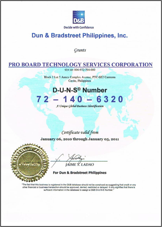Corporate Profile Pro Board Technology Services Corporation